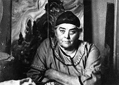 Emily Carr in her studio, 1936. Harold Mortimer-Lamb/BC Archives D-06009