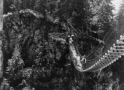 The Lynn Canyon suspension bridge has been part of Lynn Canyon Park ever since the District opened it as a public attraction in 1912. NVMA 5216